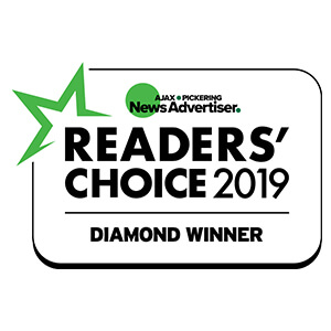 Ajax/Pickering News Advertiser 2019 Readers' Choice - Rank: Diamond, Winner Badge