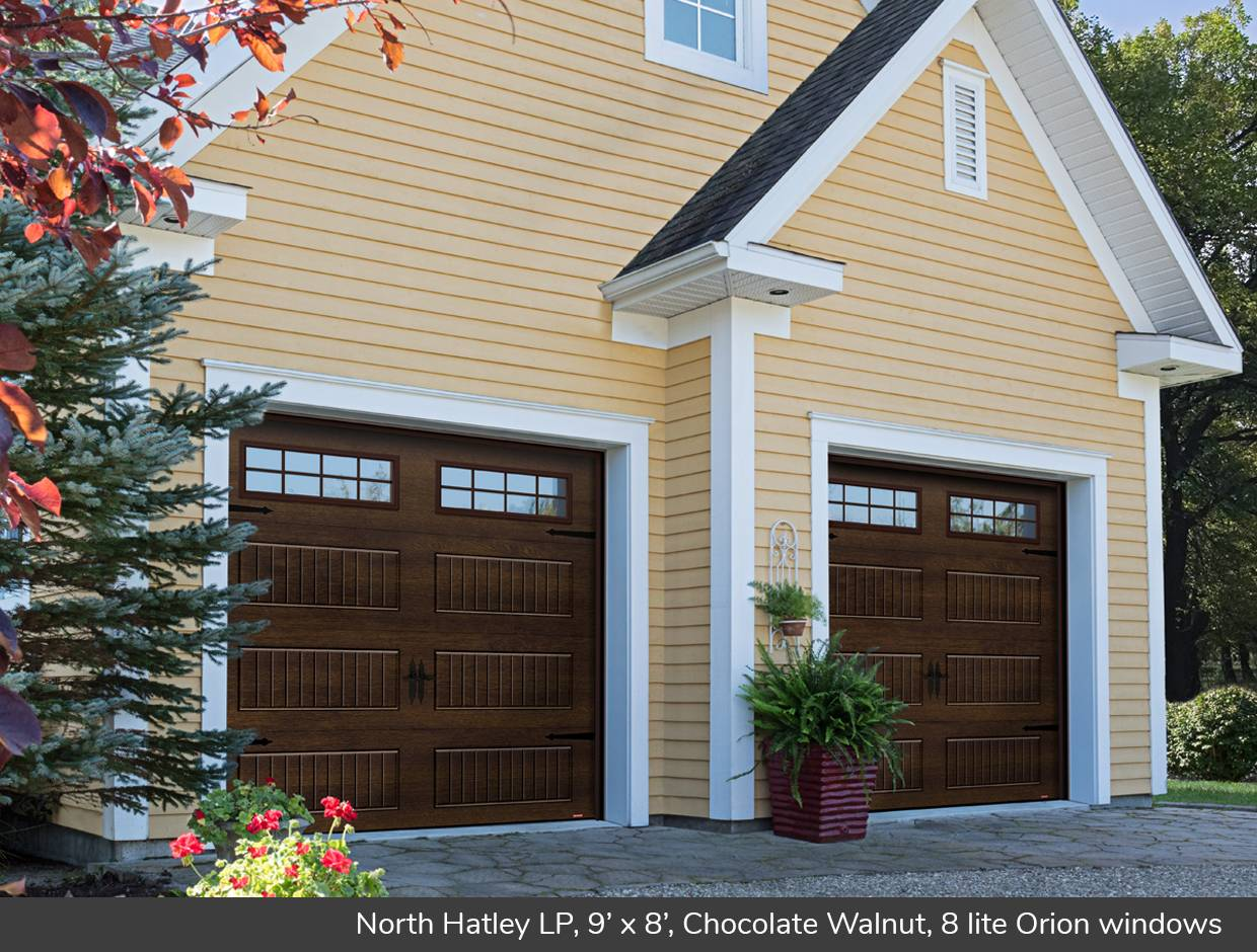 North Hatley LP, 9' x 8', Chocolate Walnut, 8 lite Orion windows